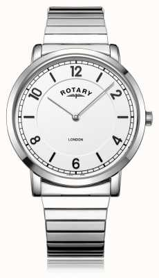 Rotary | gents pulseira de aço inoxidável | GB02765/18