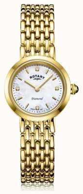 Rotary | pulseira de ouro para senhora | mãe de discagem pérola LB00900/41/D