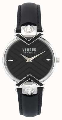 Versus Versace | pulseira de couro preto senhoras | VSPLH0119