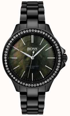 Boss | senhoras relógio de aço inoxidável preto | 1502456