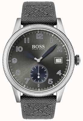 Boss | alça de lona cinza mens | relógio legado | 1513683
