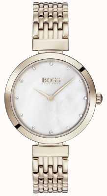 Boss | senhoras pálida rosa pulseira de metal ouro | 1502480