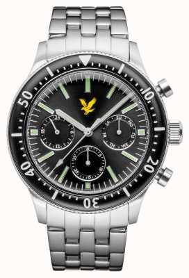 Lyle & Scott Mens jacklin pulseira de aço inoxidável mostrador preto LS-6009-11