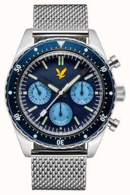 Lyle & Scott Mens highland pulseira de malha de aço inoxidável mostrador azul LS-6011-22