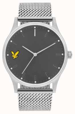 Lyle & Scott Mens esperança se aço inoxidável malha pulseira mostrador cinza LS-6013-11