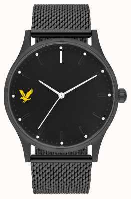 Lyle & Scott Mens esperança se preto pulseira de malha de aço pvd mostrador preto LS-6013-22