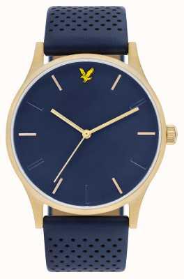 Lyle & Scott Mens esperança le blue pulseira de couro azul discagem LS-6014-04