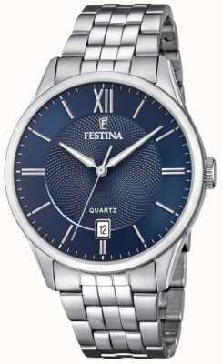 Festina | pulseira de aço inoxidável mens | mostrador azul | F20425/2