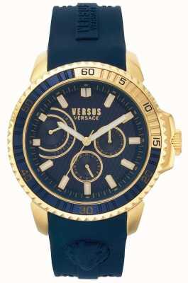 Versus Versace | mens aberdeen | pulseira de borracha azul | mostrador azul | VSPLO0219