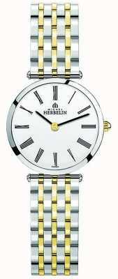 Michel Herbelin | mulheres | épsilon | pulseira de dois tons extra plana | 17116/BT01N