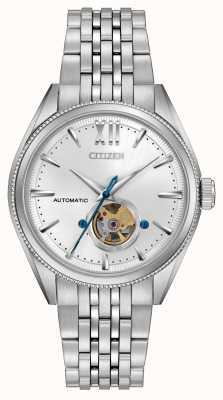 Citizen | mens assinatura grand classic automatic | aço inoxidável NB4000-51A
