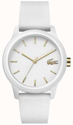 Lacoste | mulheres 12-12 | pulseira de silicone branco | mostrador branco | 2001063