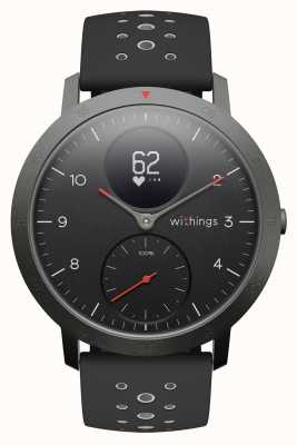 Withings Aço hr sport 40mm preto mostrador preto silicone strap HWA03B-40BLACK-SPORT-ALL-INTER