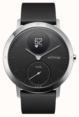 Withings Correia de silicone preta de aço 40 mm HWA03B-40BLACK-ALL-INTER