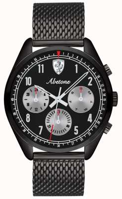 Scuderia Ferrari | mens abetona | pulseira de malha preta | mostrador preto | 0830573