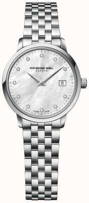 Raymond Weil | mulheres toccata diamond | pulseira de aço inoxidável | 5985-ST-97081