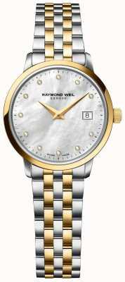 Raymond Weil | diamante tocata para senhora | pulseira de aço inoxidável de dois tons 5985-STP-97081