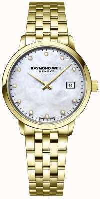 Raymond Weil | mulheres toccata diamond | pulseira de aço inoxidável ouro | 5985-P-97081