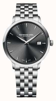 Raymond Weil   mens toccata   pulseira de aço inoxidável   mostrador cinza   5485-ST-60001