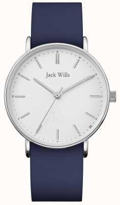 Jack Wills | pulseira de silicone azul sandhill | JW018WHNV