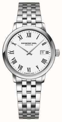 Raymond Weil | pulseira em aço inoxidável para senhora toccata | mostrador branco | 5985-ST-00300
