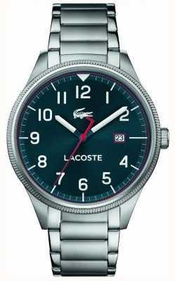 Lacoste | mens continental | pulseira de aço inoxidável | mostrador azul | 2011022