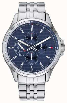 Tommy Hilfiger | pulseira de aço inoxidável para homem | mostrador azul | cronógrafo | 1791612