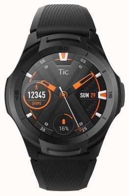 TicWatch S2 meia-noite smartwatch | pulseira de silicone preto 131585-WG12016-BLK