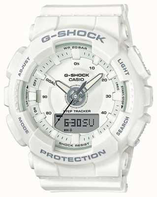 Casio | resina de mulher g-shock | alça branca | GMA-S130-7AER