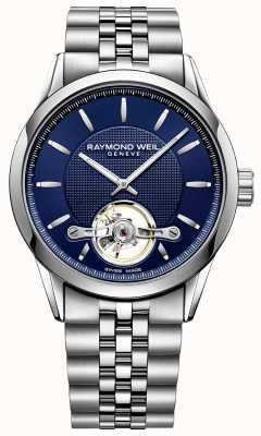 Raymond Weil Aço inoxidável automático dos homens freelancer mostrador azul 2780-ST-50001