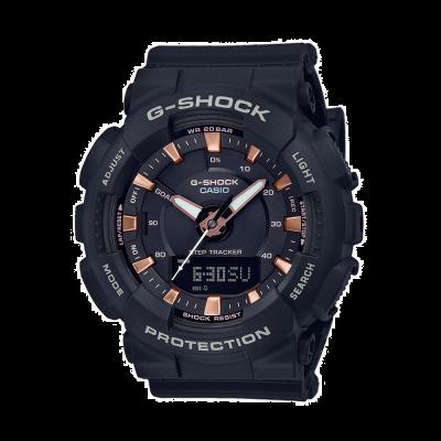 Casio Correia de resina preta G-shock step tracker GMA-S130PA-1AER