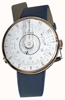 Klokers Klok 08 cabeça de relógio branco azul único alça KLOK-08-D1+KLINK-01-MC3