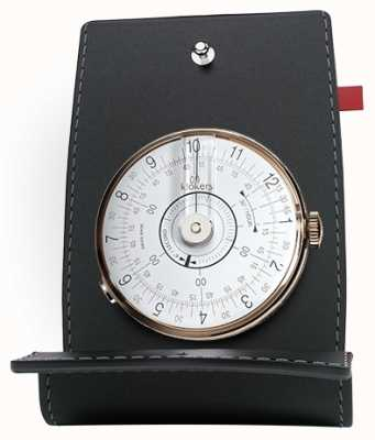 Klokers Klok 08 mesa de cabeça de relógio branco e bolso KLOK-08-D1+KPART-01-C2
