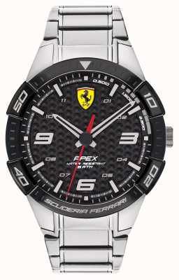 Scuderia Ferrari   ápice dos homens   pulseira de aço inoxidável   mostrador preto   0830641