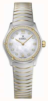 EBEL Esporte clássico das mulheres 53 diamantes ouro amarelo 18k 1216412A