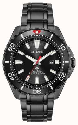 Citizen Promaster diver eco-drive preto pvd masculino BN0195-54E