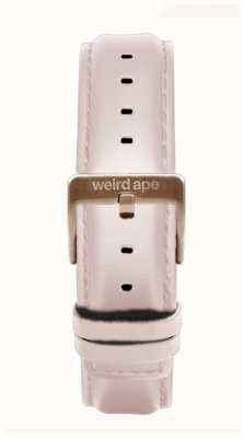 Weird Ape Bracelete em couro rosa de 16mm apenas fivela em ouro rosa ST01-000112