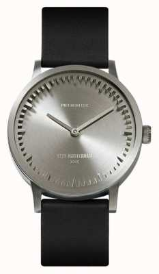 Leff Amsterdam | relógio de tubo | t32 | aço | pulseira de couro preto | LT74111