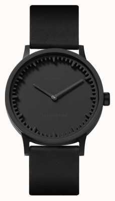 Leff Amsterdam | relógio de tubo | t32 | preto | pulseira de couro preto | LT74212