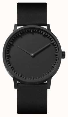 Leff Amsterdam | relógio de tubo | t40 | preto | pulseira de couro preto | LT75212