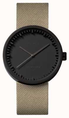 Leff Amsterdam | relógio de tubo | d38 preto pulseira de areia coedura | LT71013