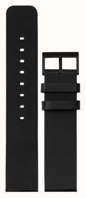 Leff Amsterdam | pulseira de couro preto | fivela preta | LT75012-STRAP