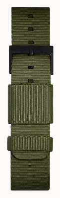 Leff Amsterdam | pulseira verde da OTAN | fivela preta | LT74032-STRAP