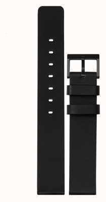 Leff Amsterdam | pulseira de couro preto | fivela preta | LT74012-STRAP