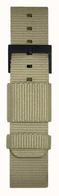 Leff Amsterdam   pulseira cinza da OTAN   fivela preta   LT75052-STRAP