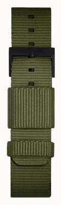 Leff Amsterdam | pulseira verde da OTAN | fivela preta | LT75032-STRAP