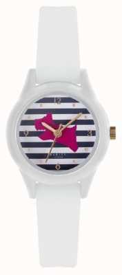 Radley | mulheres assistem '| pulseira de silicone branco | mostrador impresso | RY2814