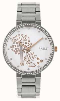 Radley | pulseira de aço inoxidável para mulher | mostrador com motivo de árvore | RY4387