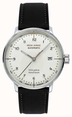 Iron Annie Bauhaus automático | pulseira de couro preto | 5056-1