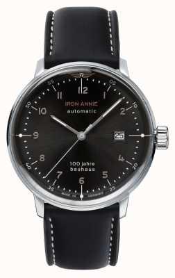 Iron Annie Bauhaus automático | pulseira de couro preto | 5056-2